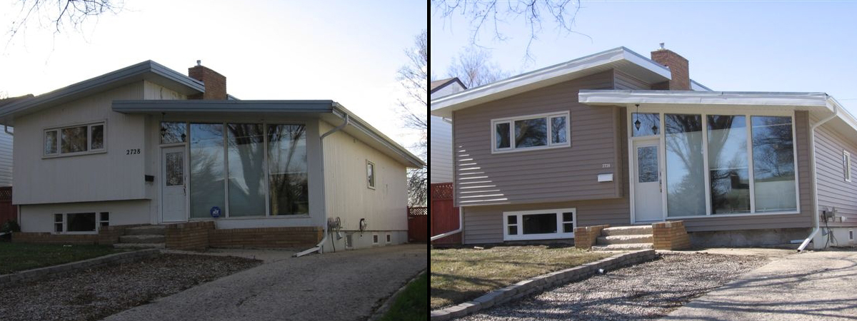 Regina Window and Exterior Before and After Siding Saskatchewan