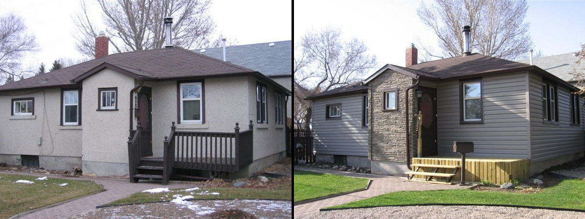 Regina Window and Exterior Before and After Nextstone Saskatchewan