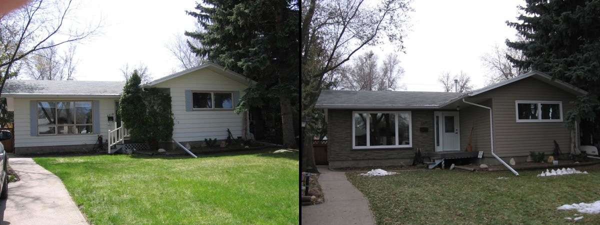 Regina Window Sales and Exteriors Before and After Siding Saskatchewan