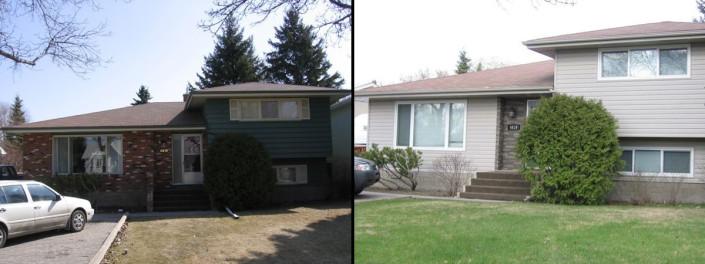 Regina Window Sales and Exteriors Before and After Siding Saskatchewan